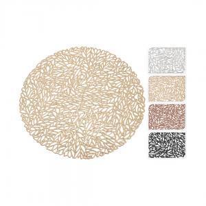 Плейсмат, золотой/черный/медный/серебряный, 35 см